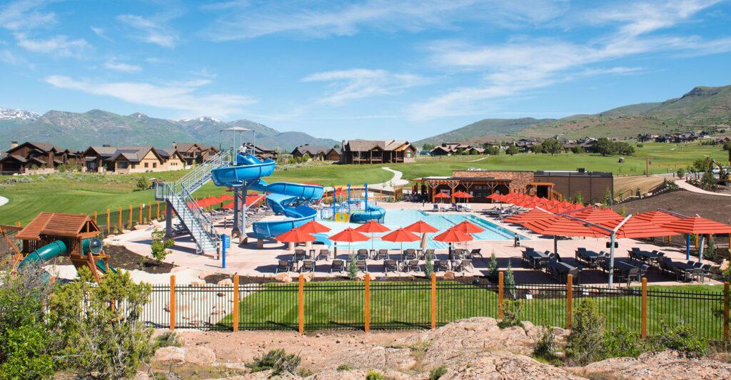 Luxury Resort Community Pool at Red Ledges